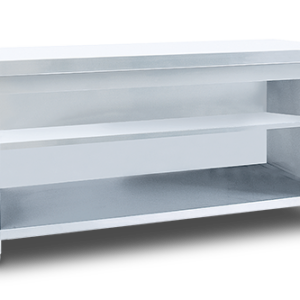 Service Table with Intermediate Shelf