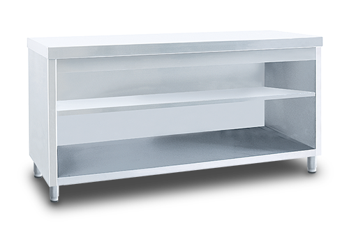 Service Table with Intermediate Shelf